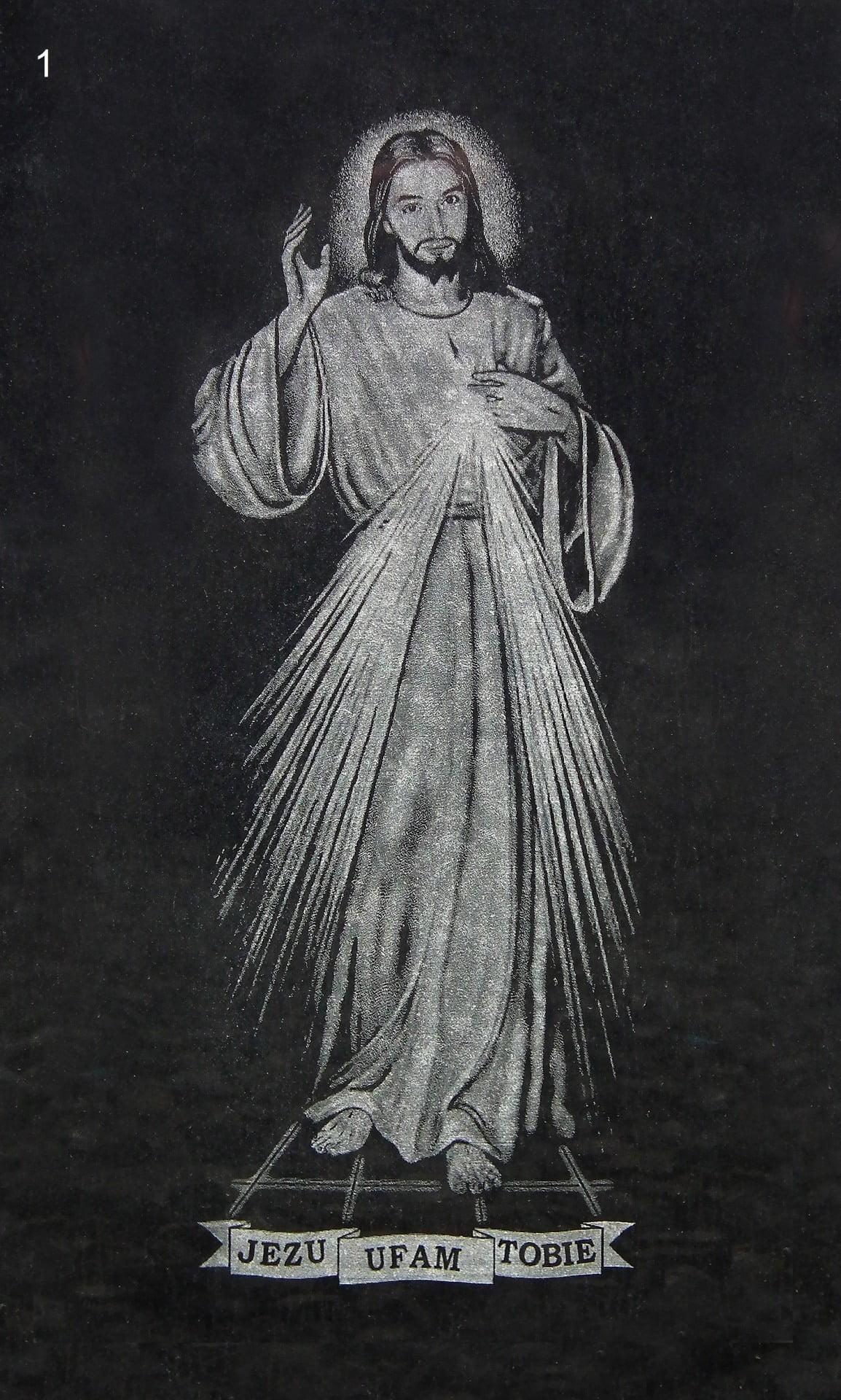 Jezu ufam tobie grawer - Nagrobki Bielsko-Biała