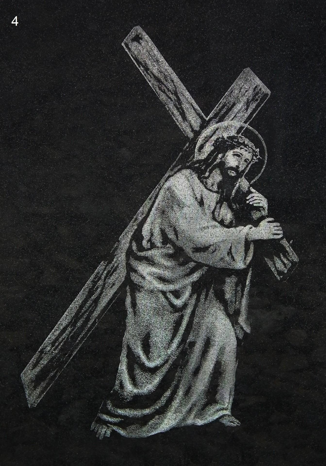 Jezus z krzyżem - Nagrobki Bielsko-Biała