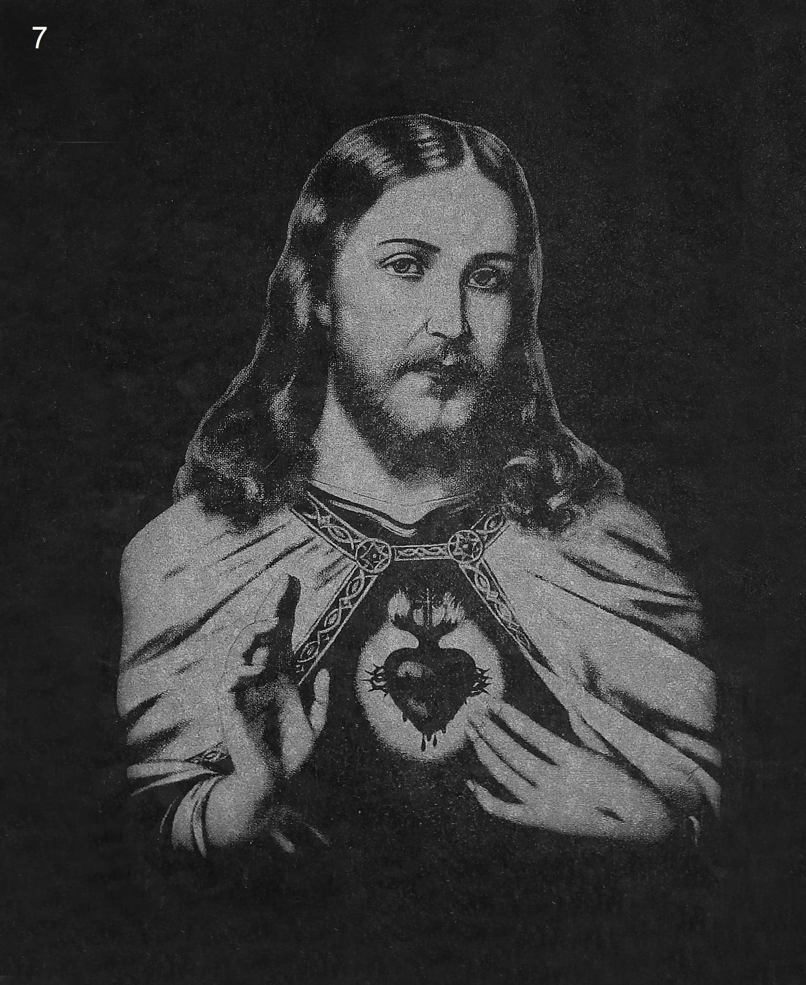 Jezus z sercem - Nagrobki Bielsko-Biała