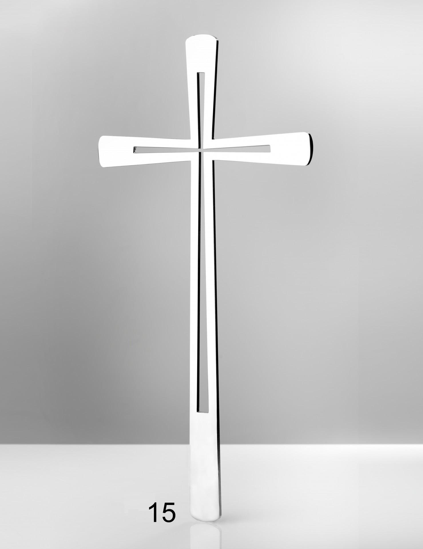 Piękny srebrny krzyż - Nagrobki Bielsko-Biała