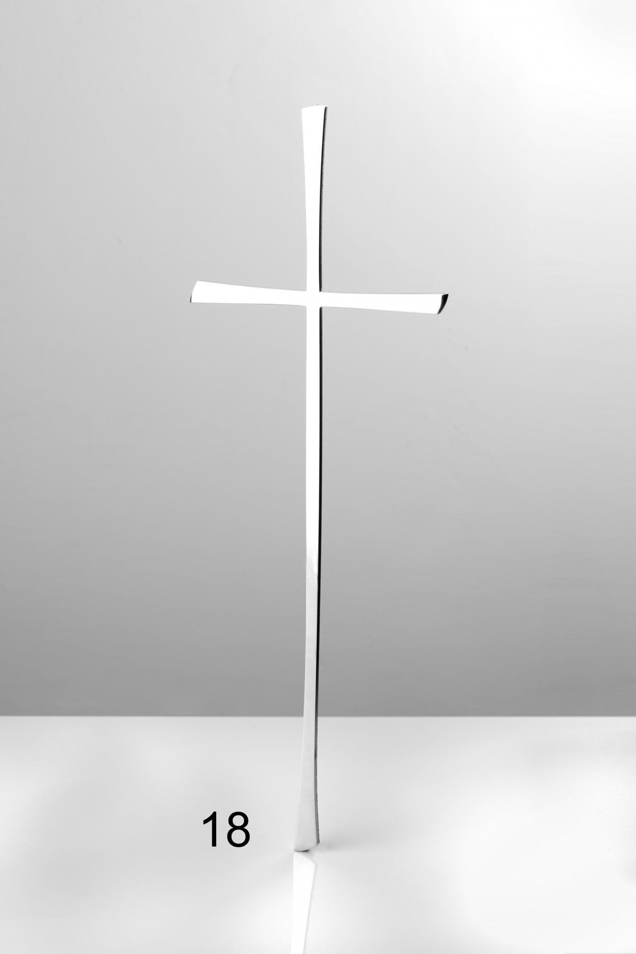 Srebrny prosty krzyżyk - Nagrobki Bielsko-Biała