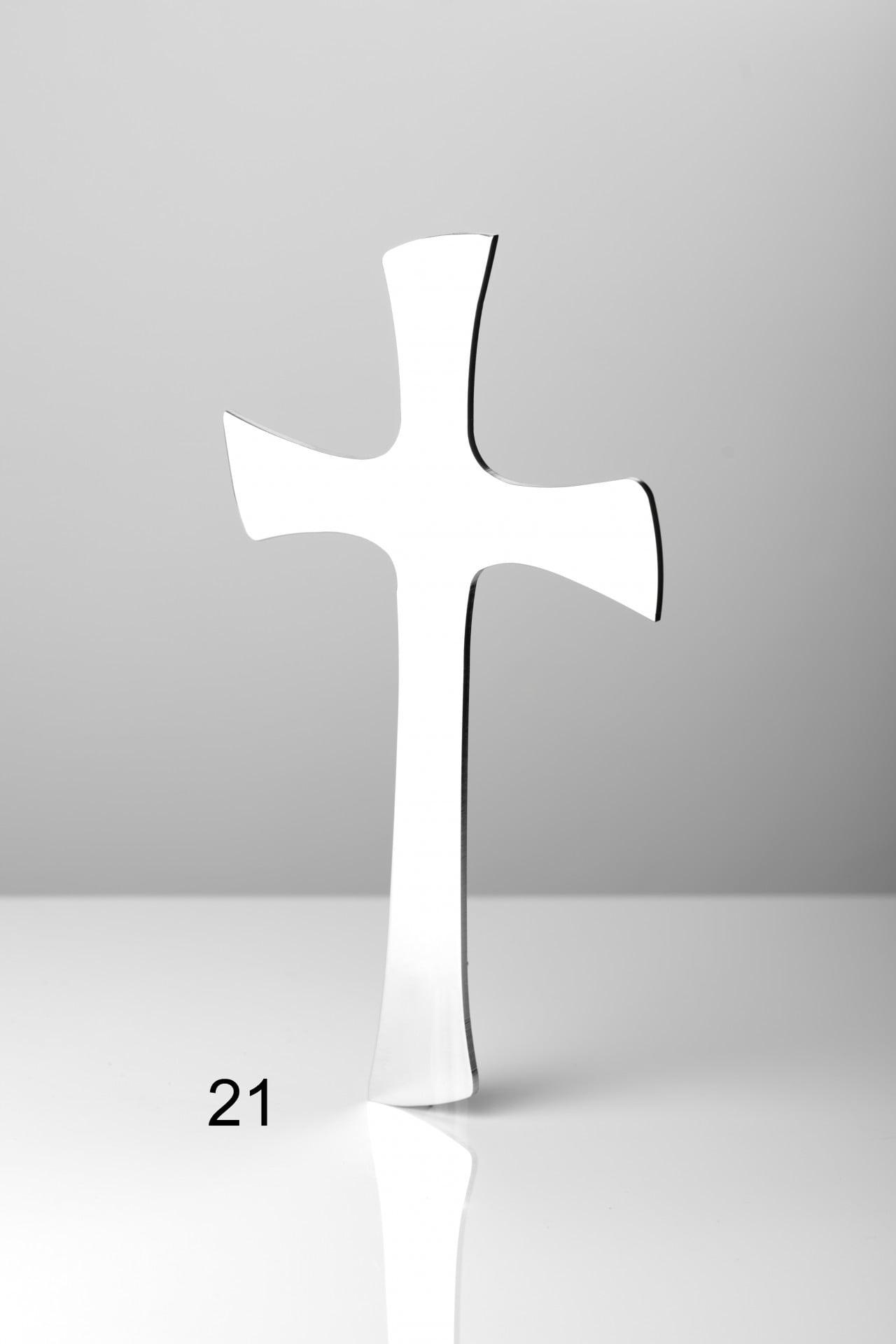 Srebrny pełny krzyż - Nagrobki Bielsko-Biała