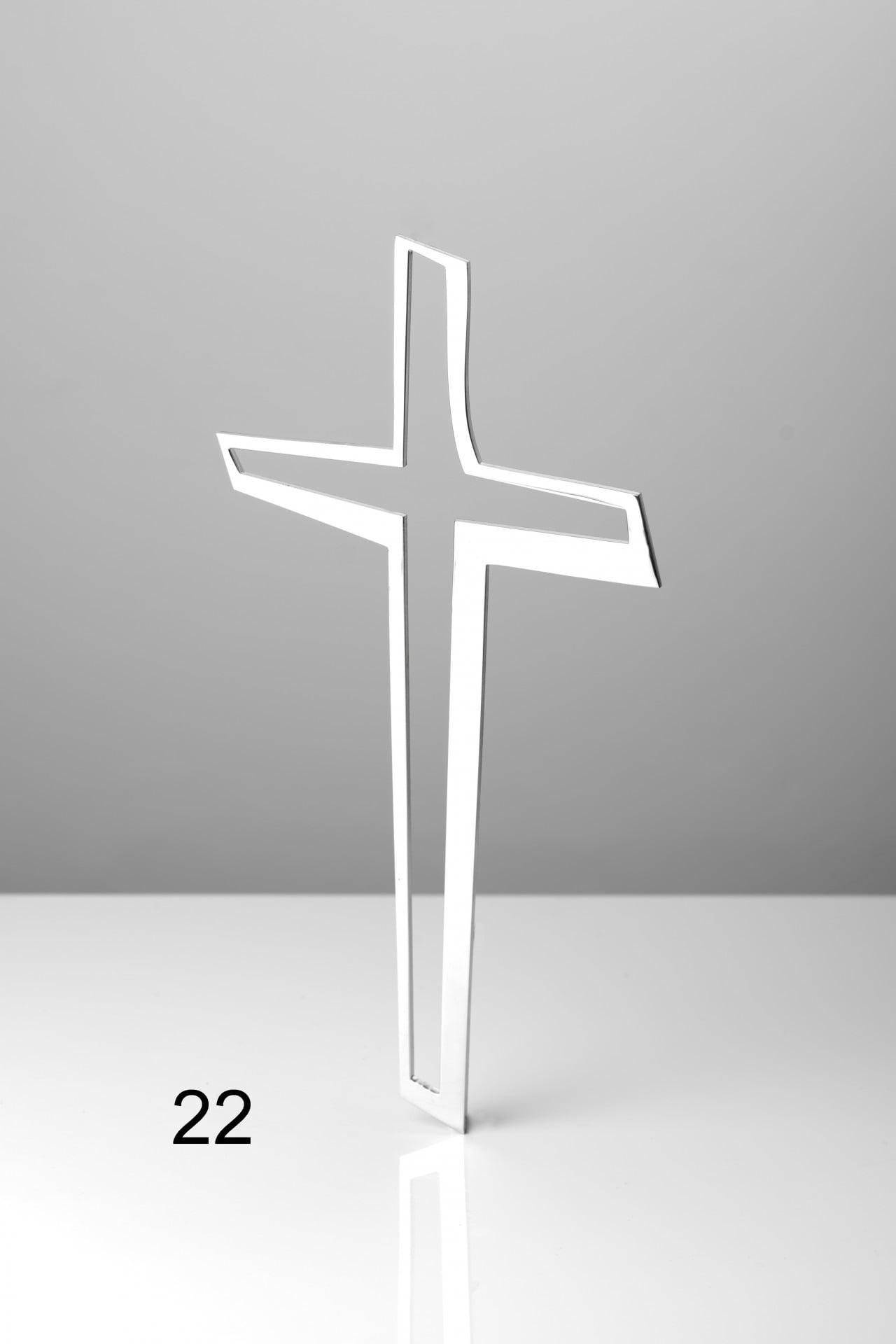 Srebrny pusty krzyż - Nagrobki Bielsko-Biała