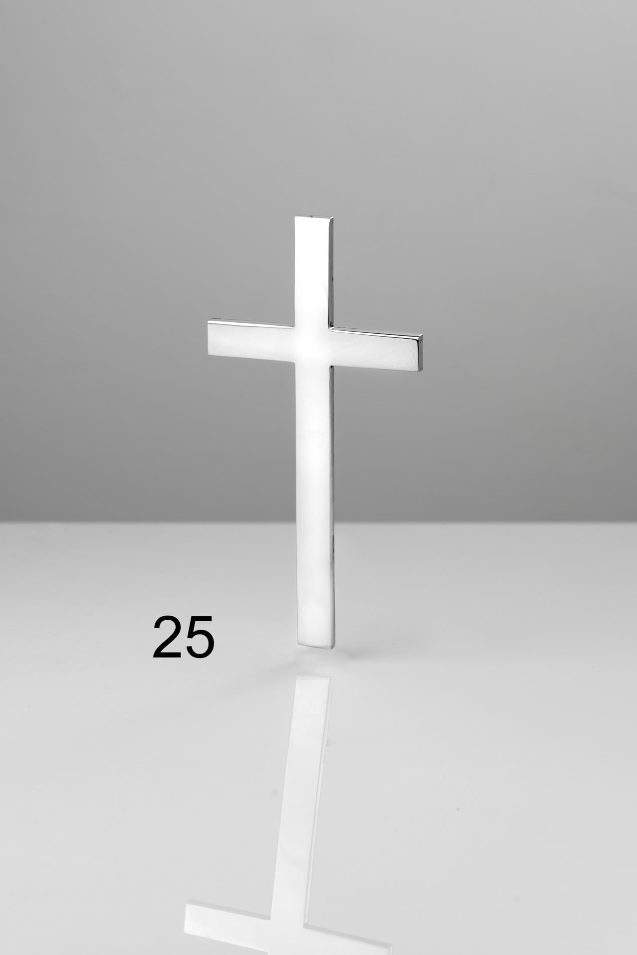 Srebrny prosty krzyż