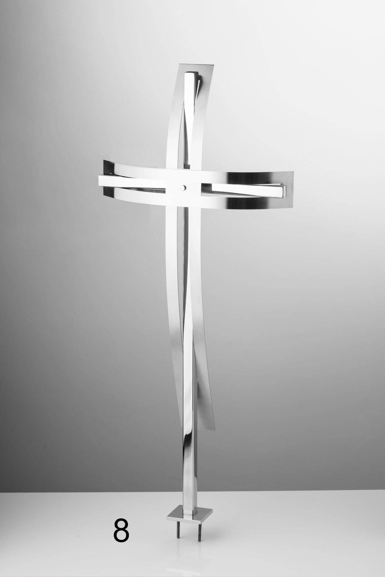 Srebrny krzyż - Nagrobki Bielsko-Biała