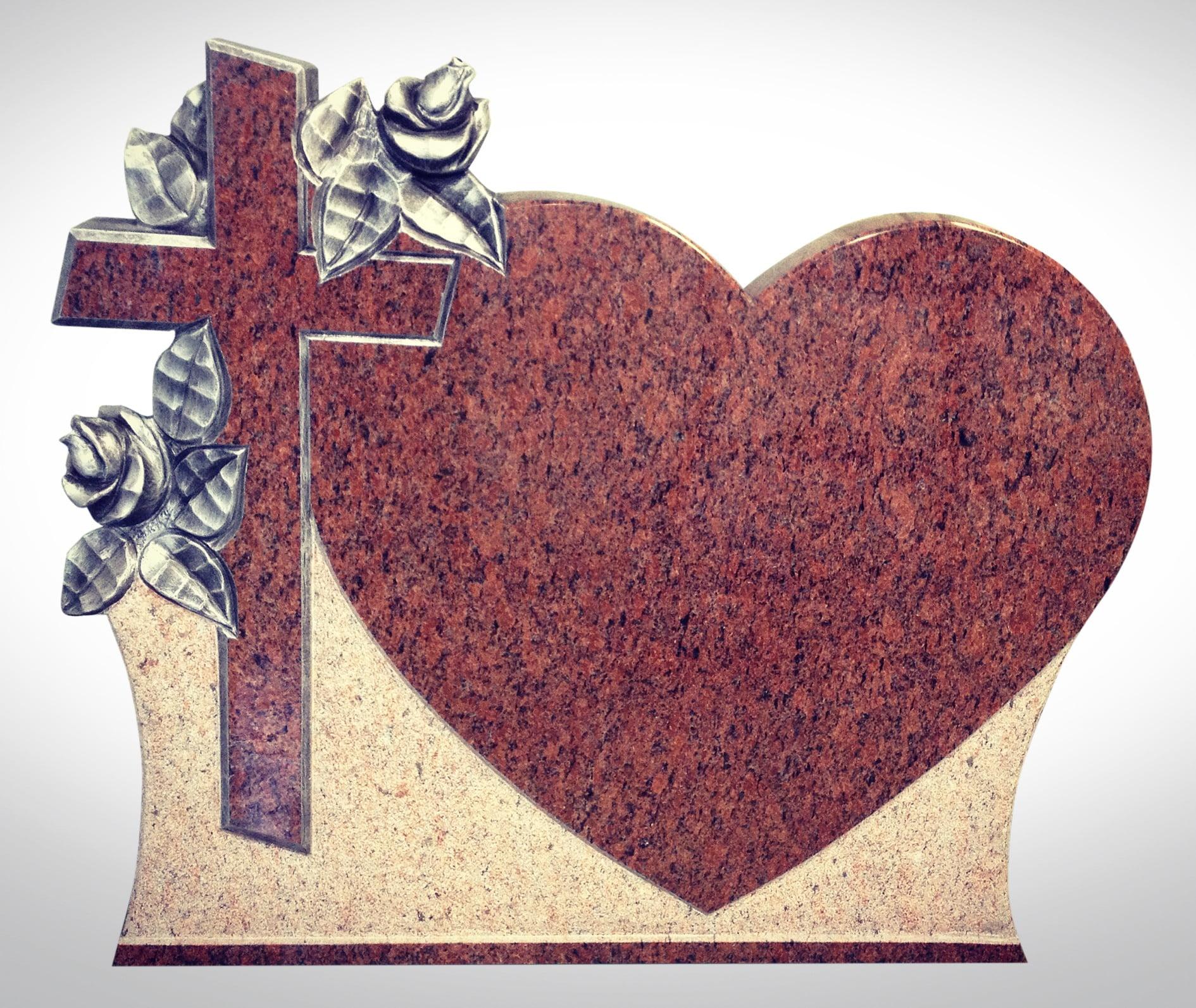 Nagrobek marmurowy z sercem - Nagrobki Bielsko-Biała