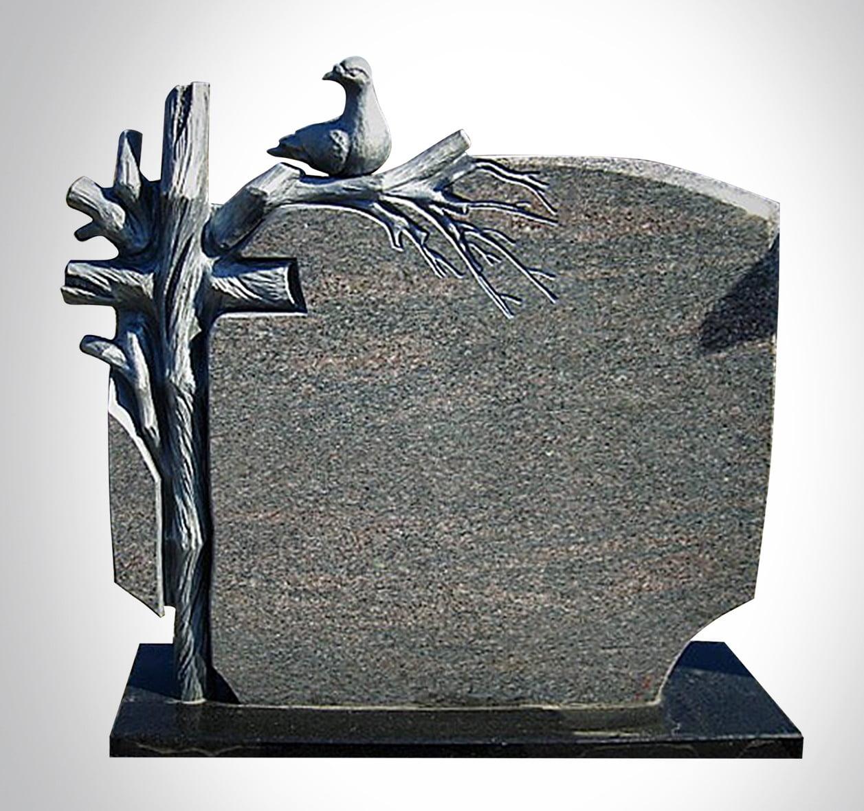 Rzeźba z krzyżem i gołębiem - Nagrobki Bielsko-Biała