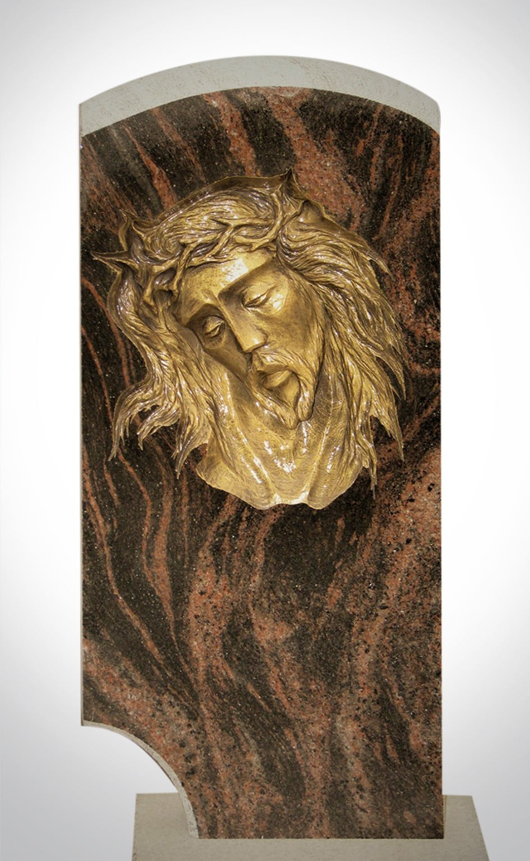 Sztukateria - twarz Jezusa - Nagrobki Bielsko-Biała